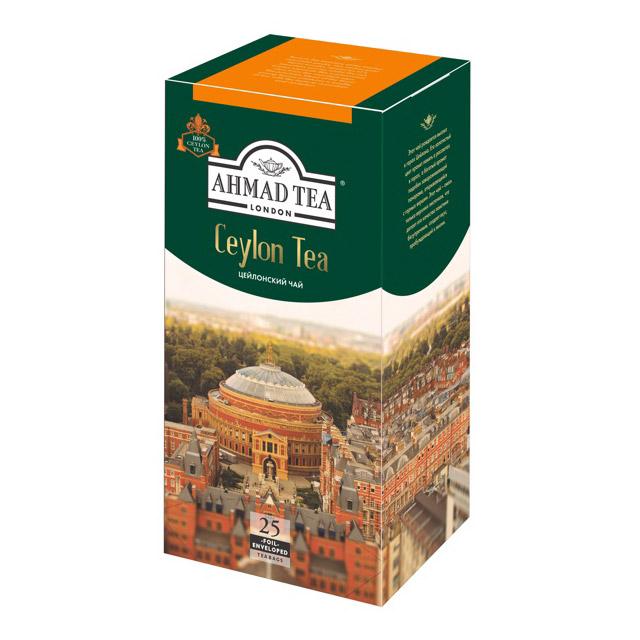 Чай Ahmad Tea Ceylon черный 25 пакетиков чай ahmad tea ceylon черный 25 пакетиков