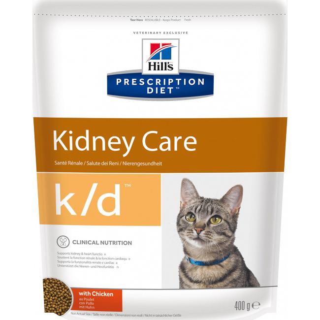Корм для кошек Hill's Prescription Diet k/d Kidney Care при профилактике заболеваний почек С курицей 400 г фото