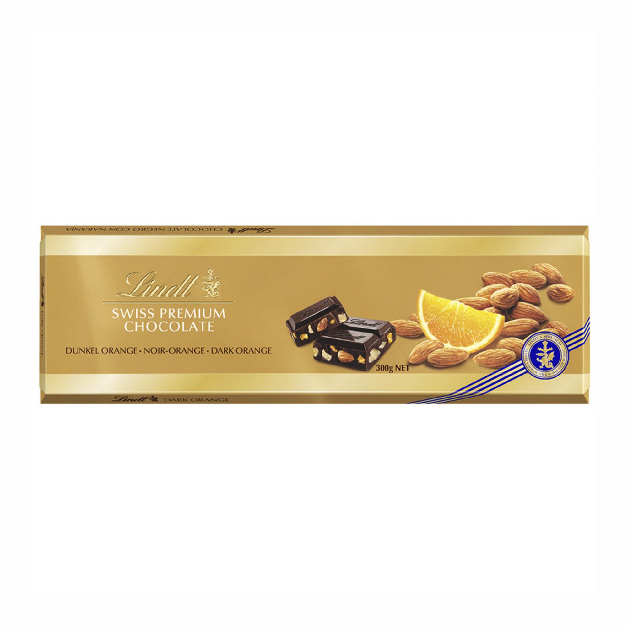 шоколад klaus горький с какао из перу с апельсином и перцем 100 г Шоколад горький Lindt Gold с Апельсином и Миндалем 300 г