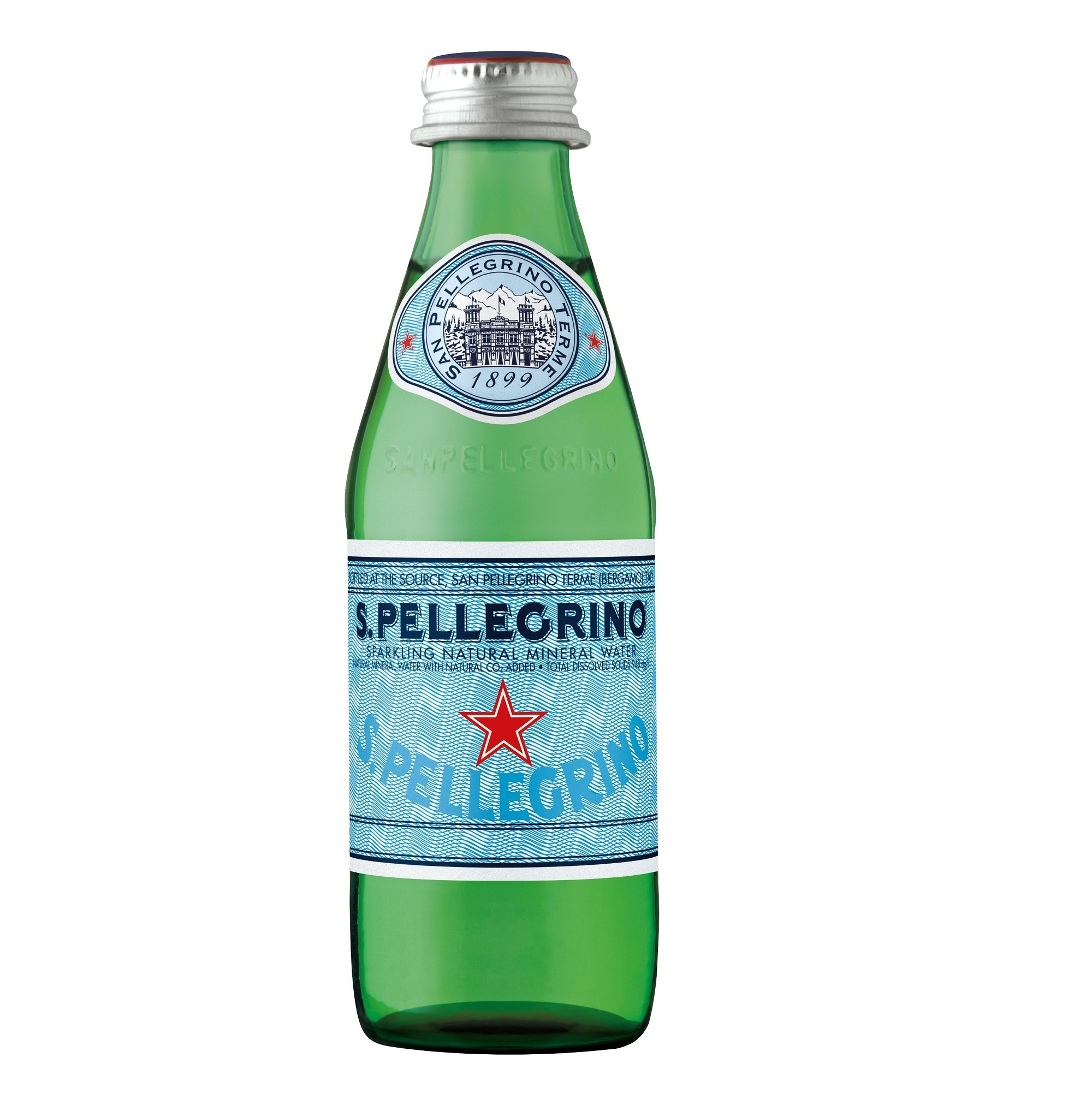 Вода минеральная San Pellegrino газированная 0,25 л вода san bernardo газированная 1 л