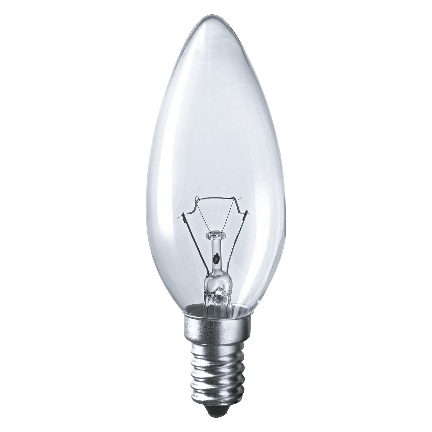 Лампа накаливания Navigator свеча прозрачная 60Вт цоколь E14