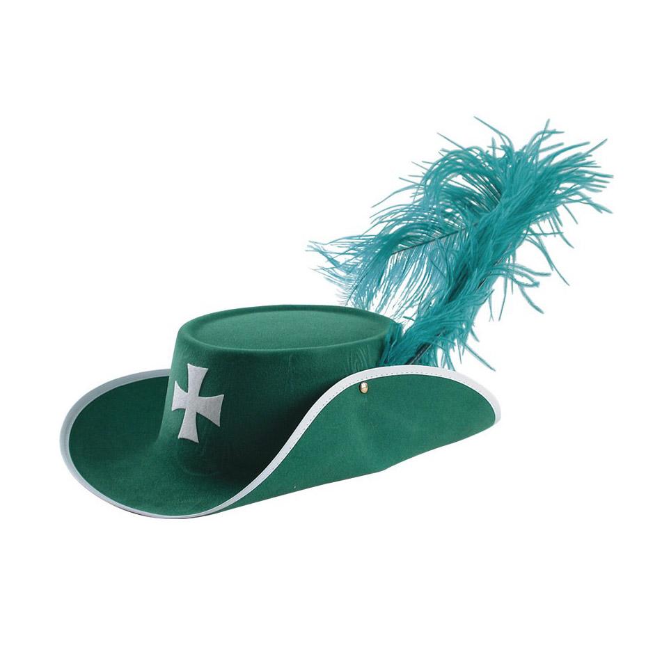 Шляпа Carnival Toys Д'Артаньян зеленая