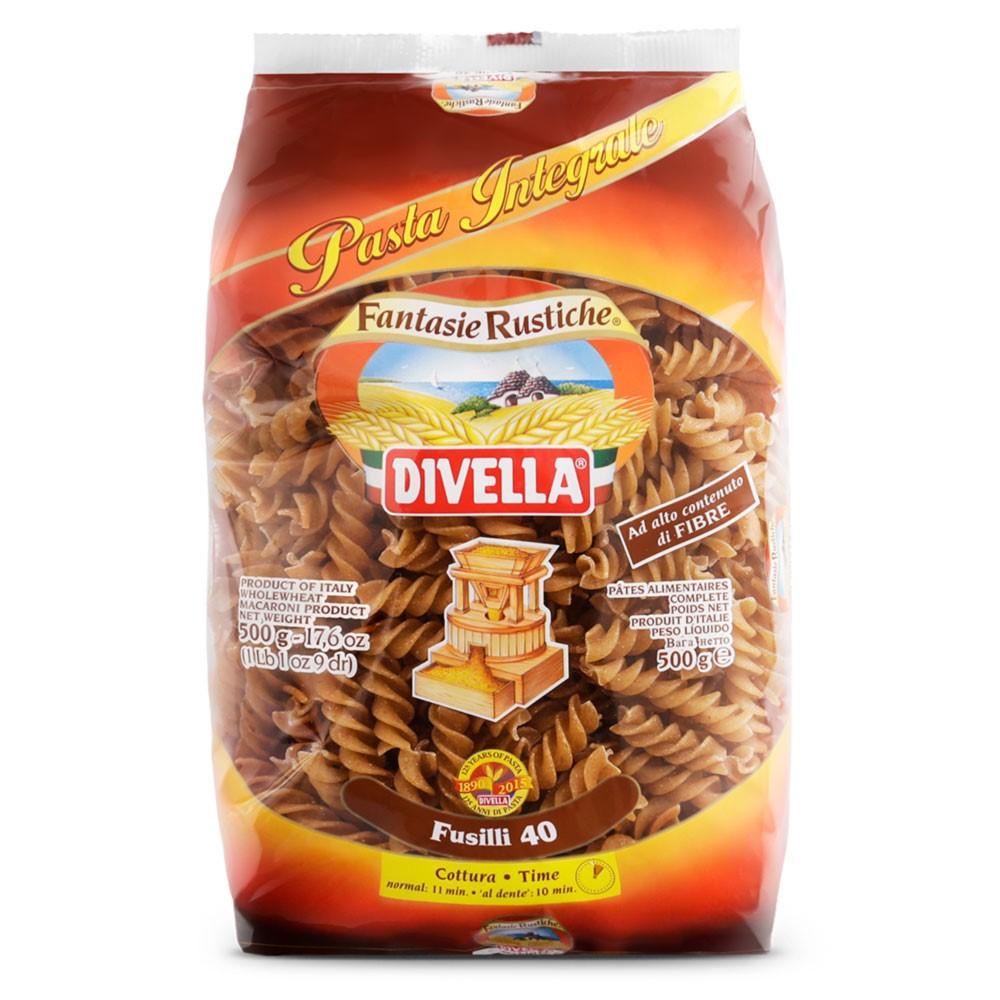 Макаронные изделия Divella Fusilli Integrali 500 г макаронные изделия ашан ракушки 500 г