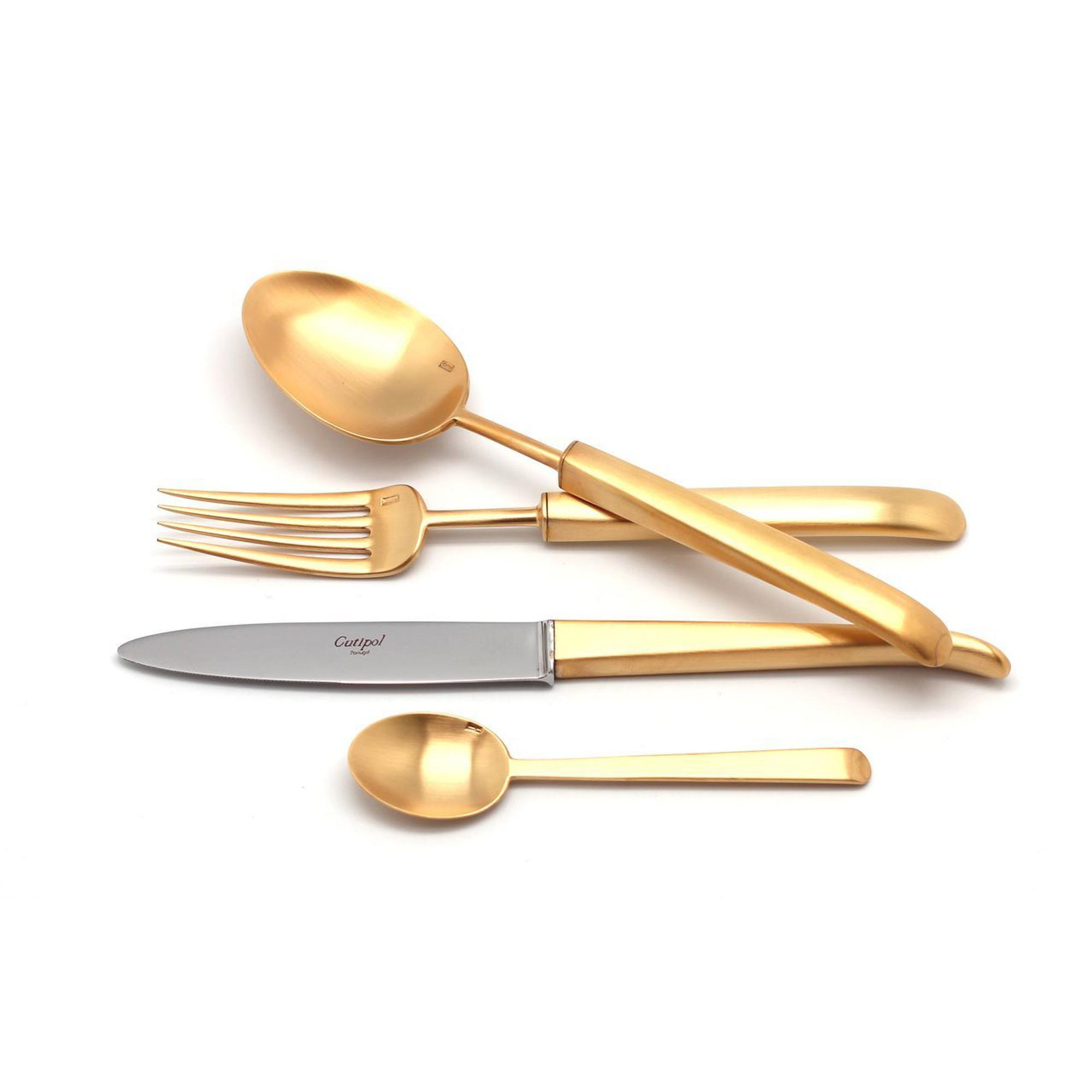 Набор приборов Cutipol CARRE GOLD 9132-72 72 предмета матовый набор столовых приборов cutipol fontainebleau gold из 72 х предметов 9162 72