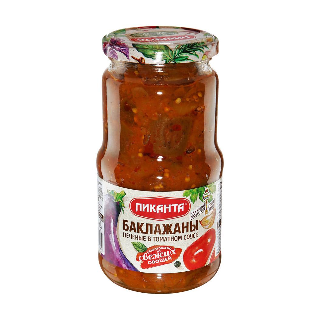 Баклажаны печеные Пиканта в томатном соусе 520 г баклажаны жареные noyan с черносливом в томатном соусе 560 г