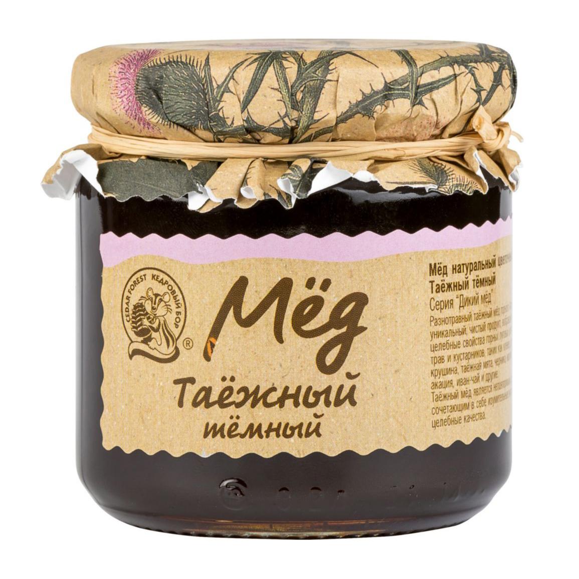 Мед цветочный Кедровый Бор Таежный 245 г мед дикий мед башкирский цветок цветочный 600 г