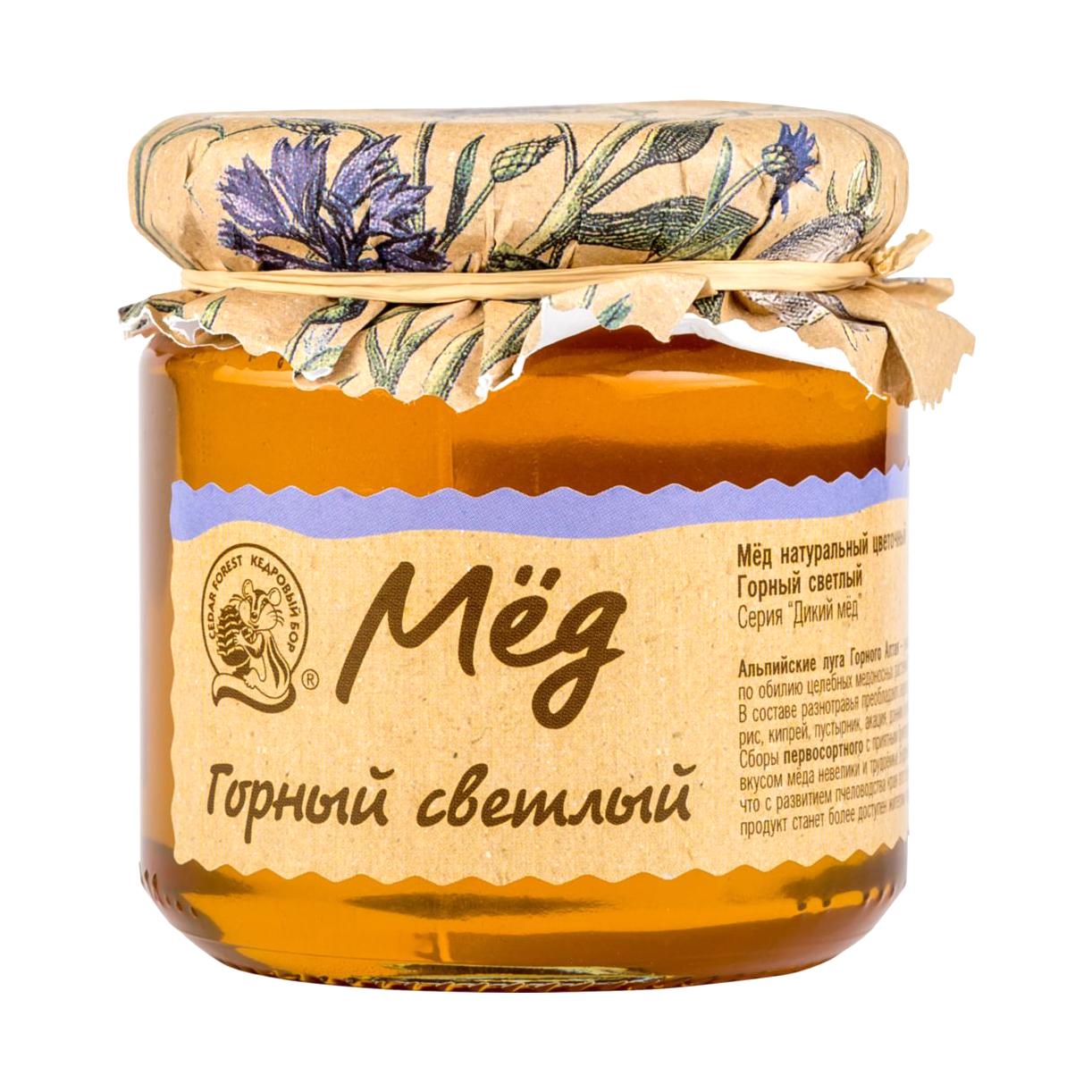 Мёд горный Кедровый бор светлый 245 г