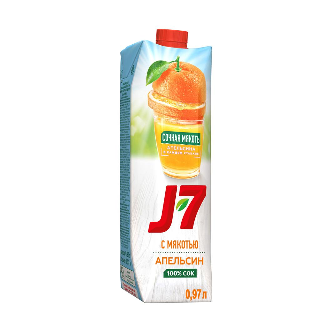 Фото - Сок J7 Апельсин с мякотью 0,97 л j7
