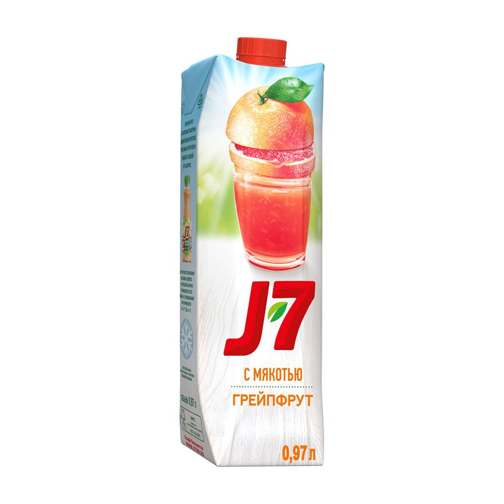 Фото - Нектар J7 Грейпфрут с мякотью 0,97 л j7