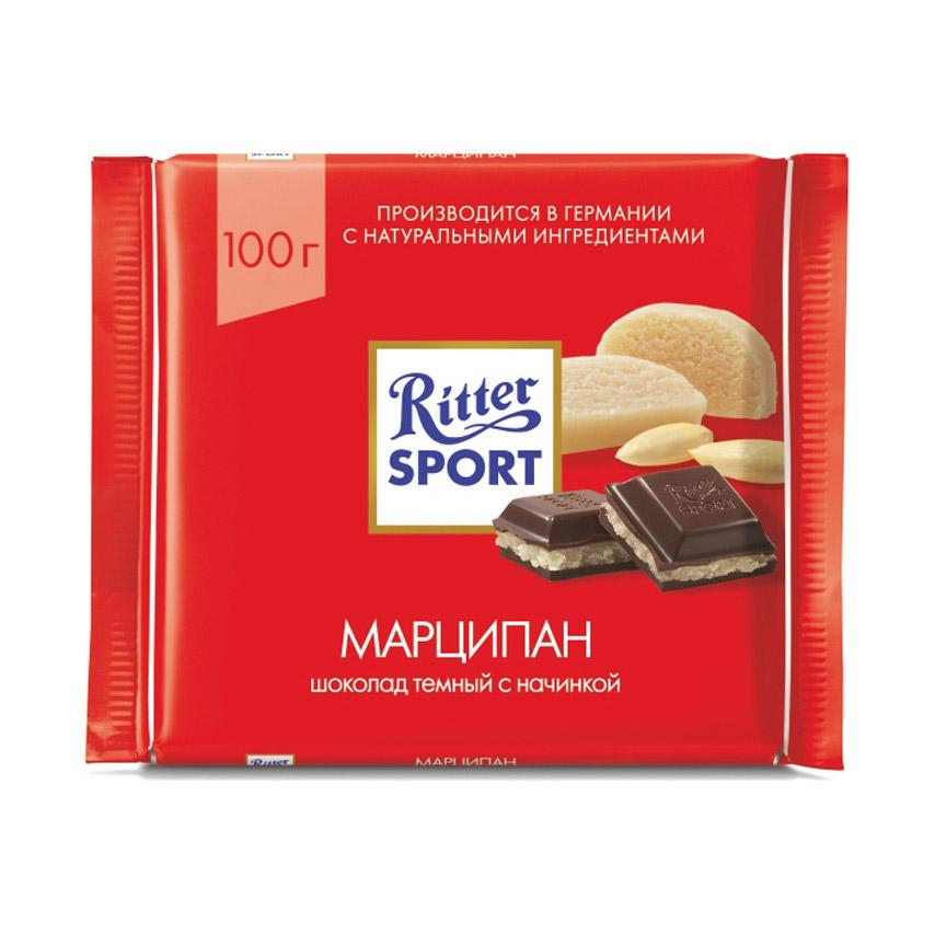 Шоколад тёмный Ritter Sport марципан 100 г