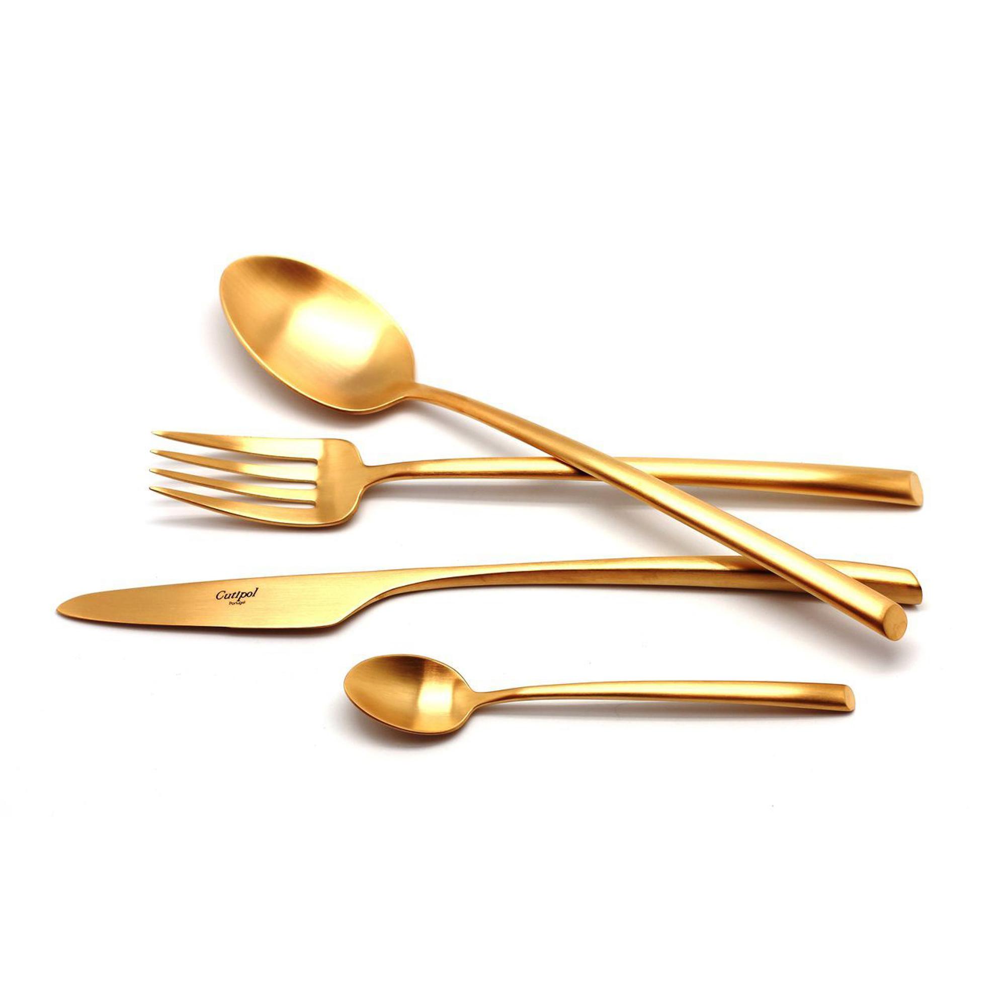 Столовый набор Cutipol MEZZO GOLD 9302-72 72 предмета матовый набор столовых приборов cutipol fontainebleau gold из 72 х предметов 9162 72
