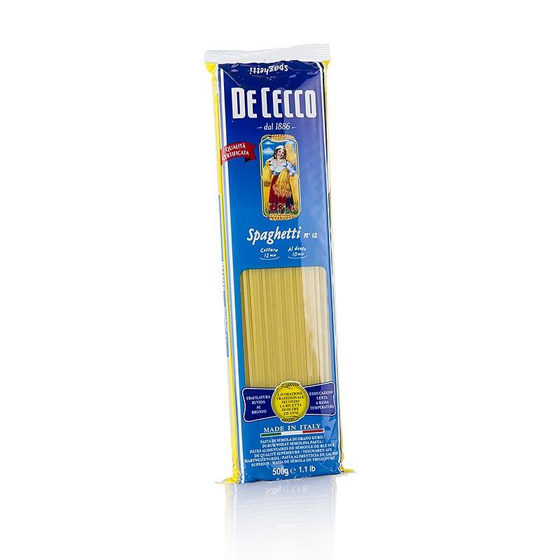 Спагетти De Cecco №12 500 г макароны de cecco rigate tricolore 500 г
