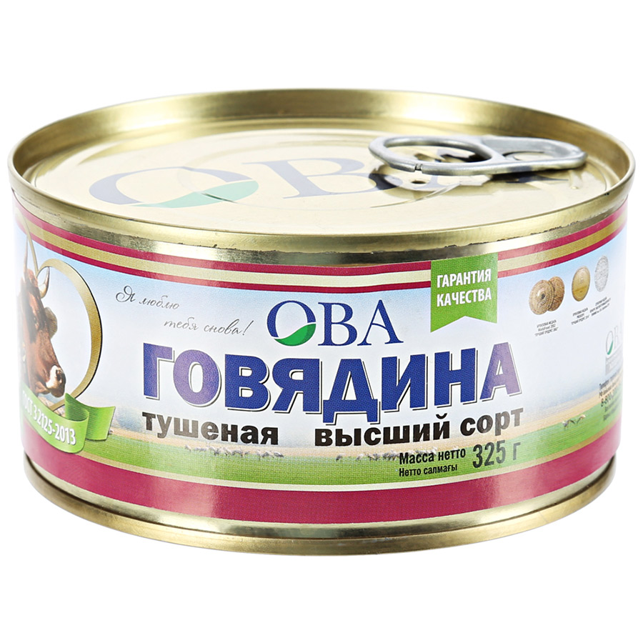 говядина тушеная барс экстра 325 г Говядина ОВА Тушеная 325 г