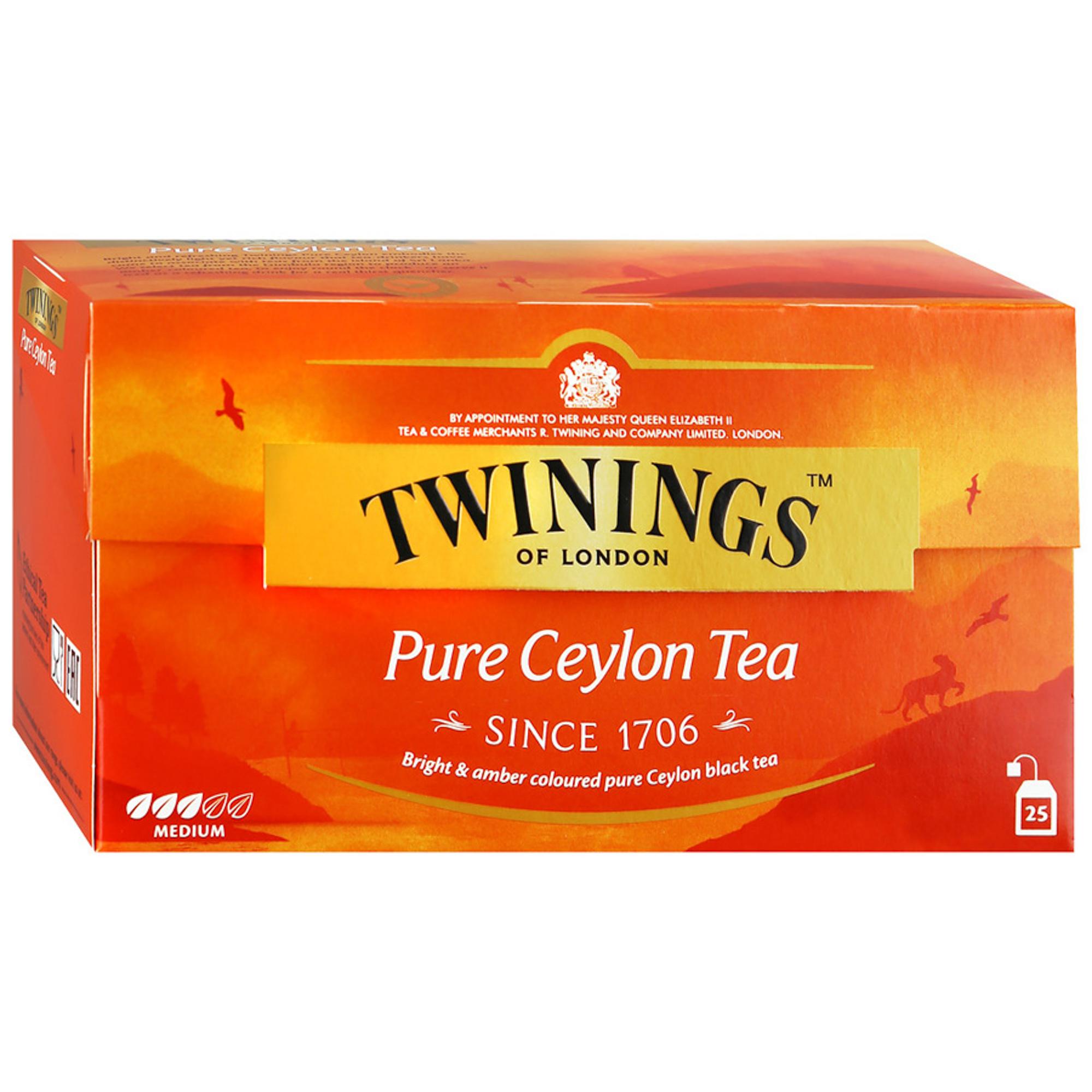 Чай черный Twinings Ceylon 25 пакетиков