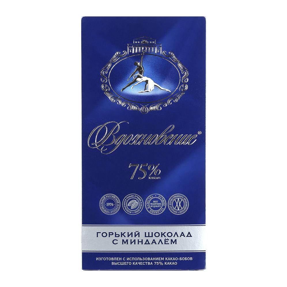 шоколад bucheron village горький с миндалем 100 г Шоколад Вдохновение горький с миндалем 75% 100 г