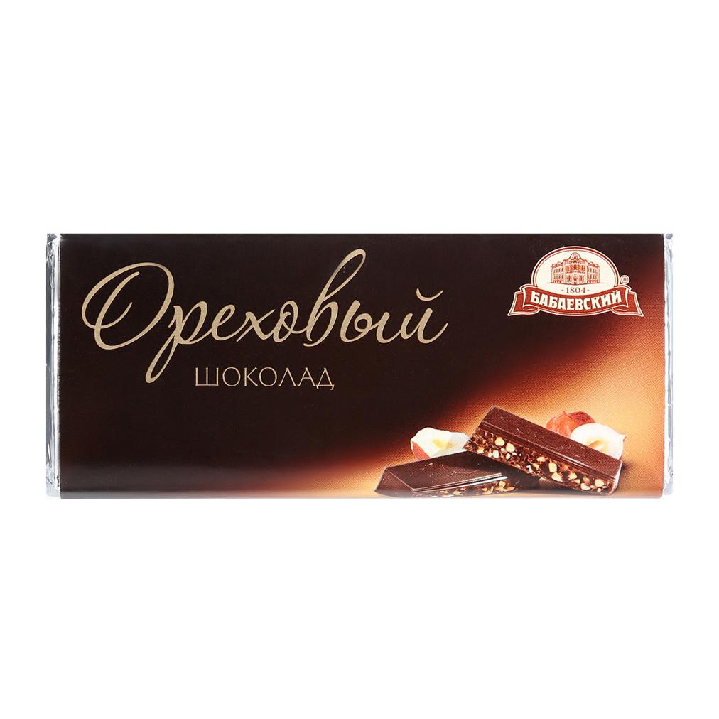 Шоколад темный Бабаевский Ореховый 60 г