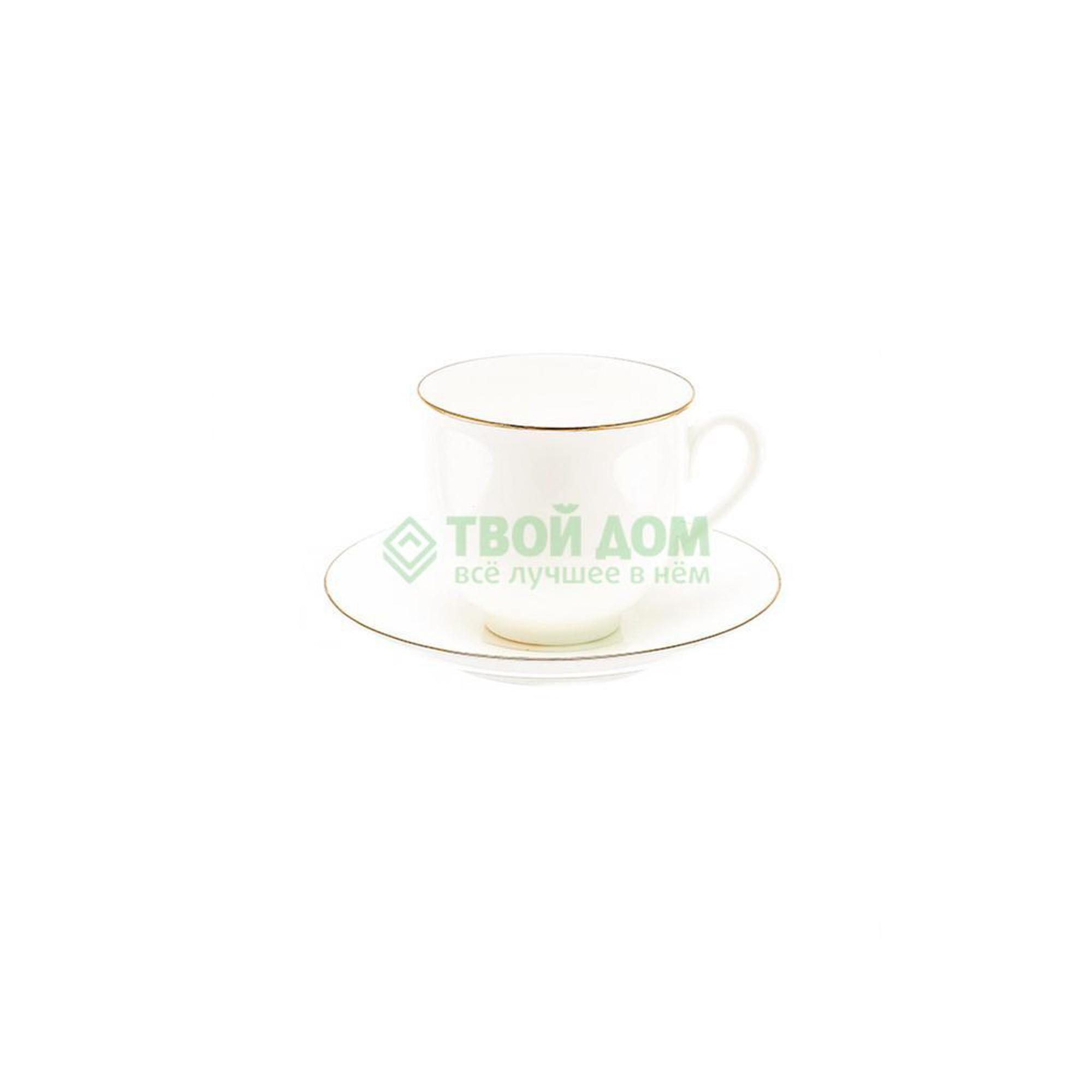 Чашка с блюдцем Лфз ландыш золотой кантик 13кн1 (8114287001) фото