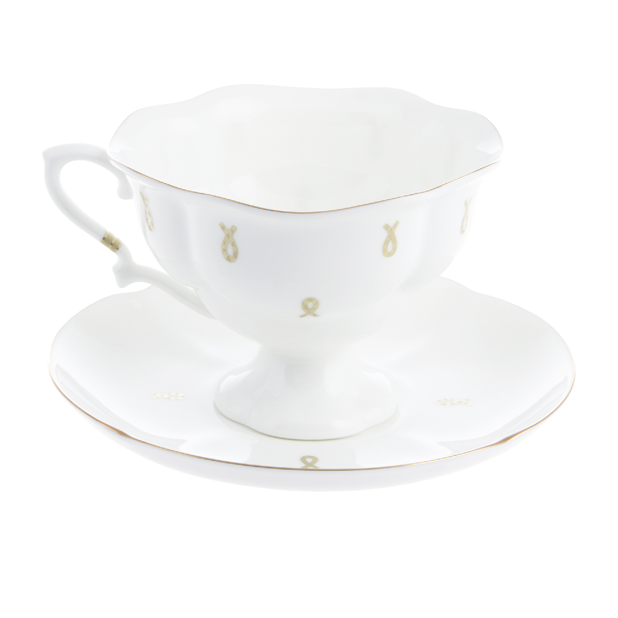 Чашка с блюдцем чайная ИФЗ Наташа Петельки 220 мл
