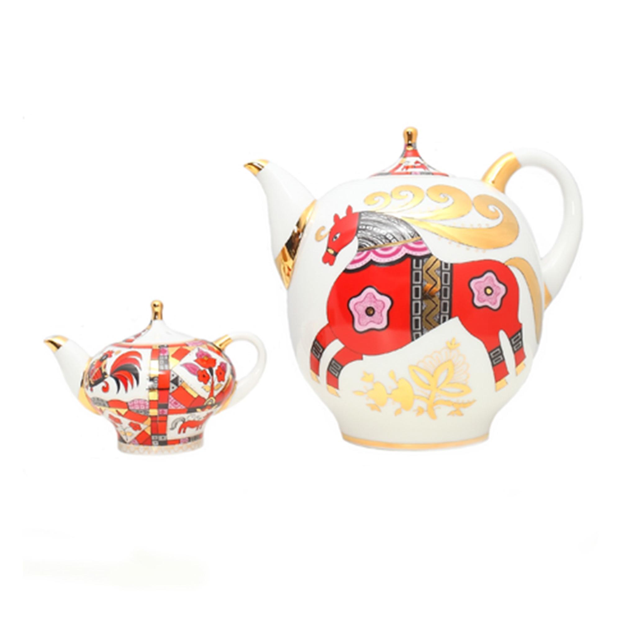 Комплект чайников ЛФЗ Красный конь конь ретивый
