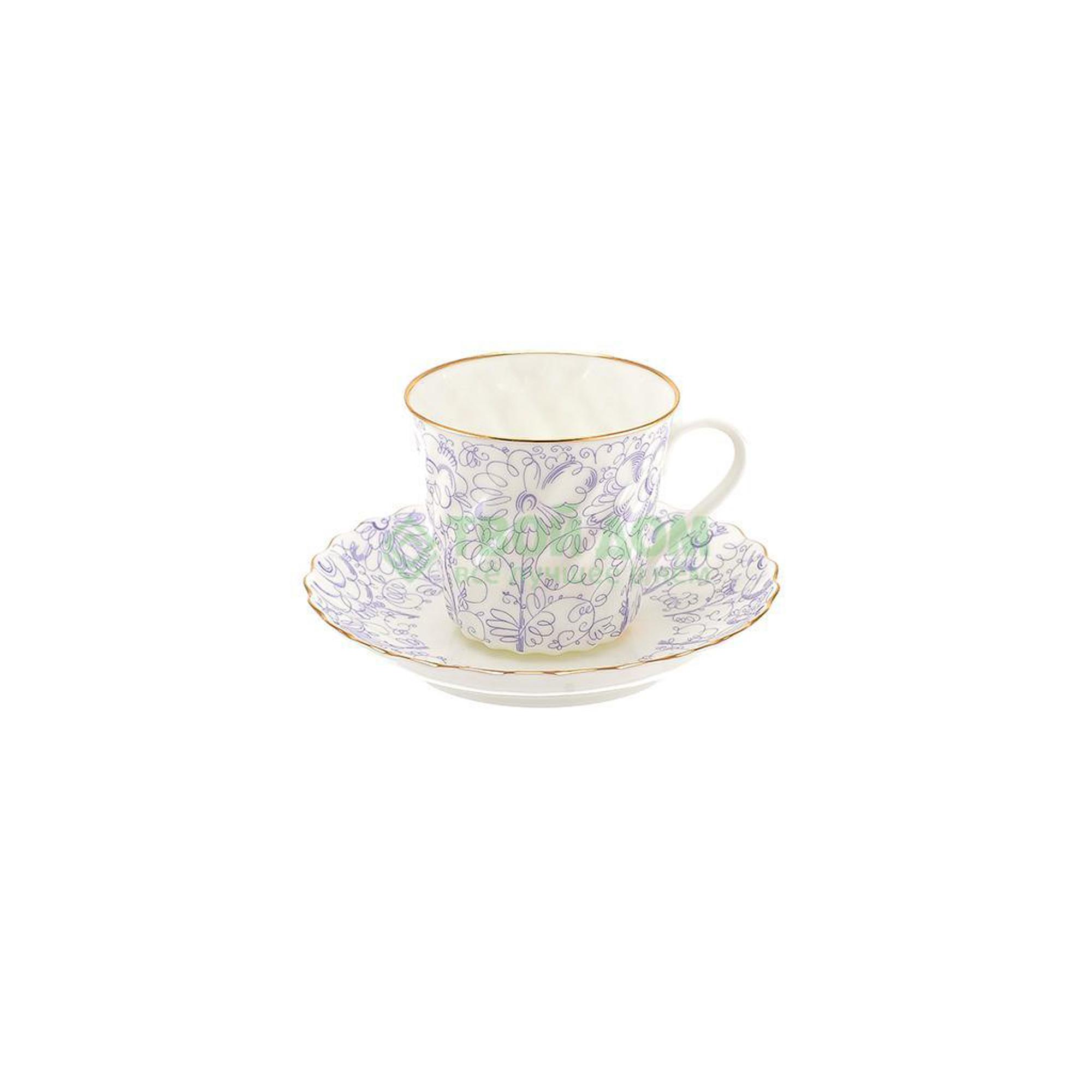 Чашка с блюдцем Лфз витая садик (8114255001) фото