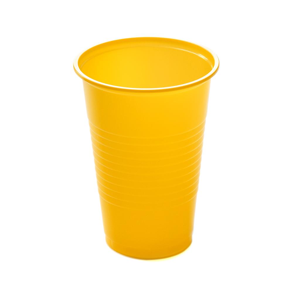 Набор стаканов Мистерия желтые 200 мл 12 шт
