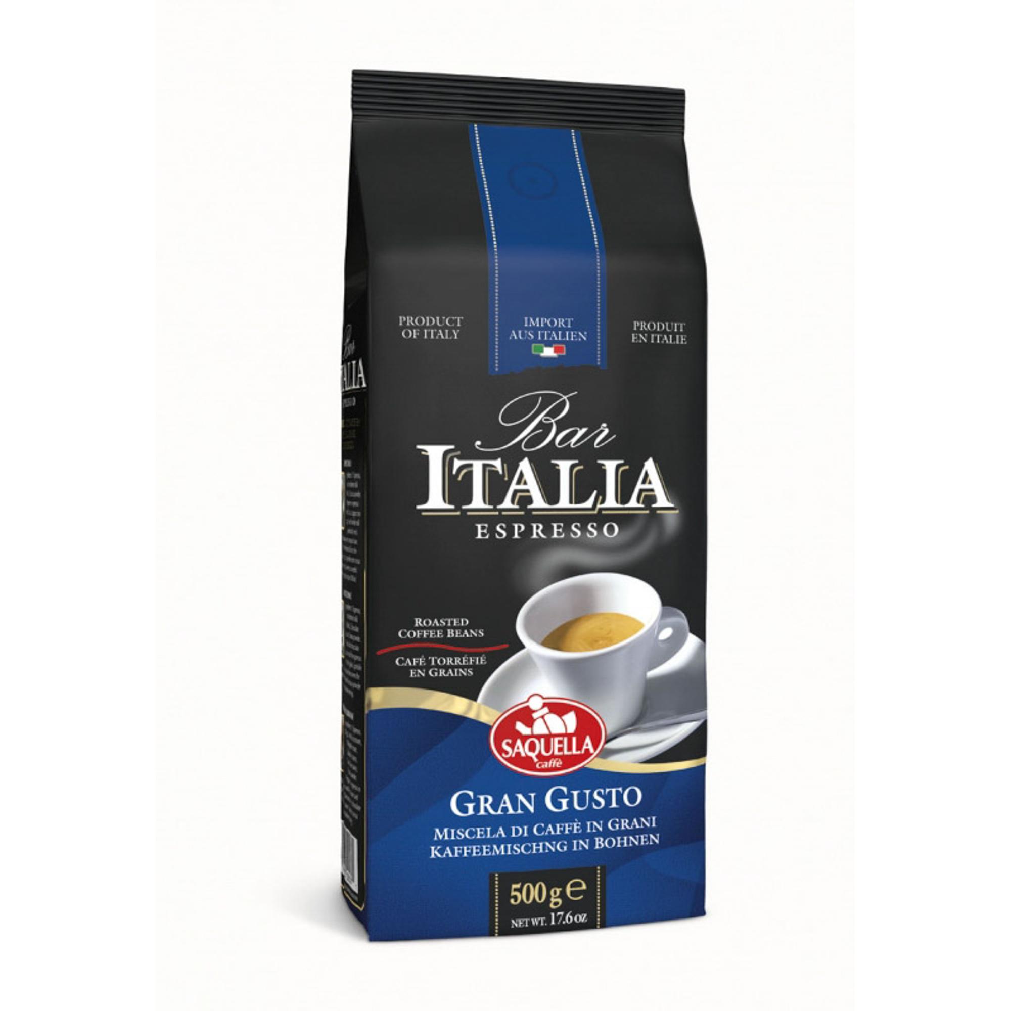Кофе в зернах Saquella Bar Italia Gran Gusto 500 г