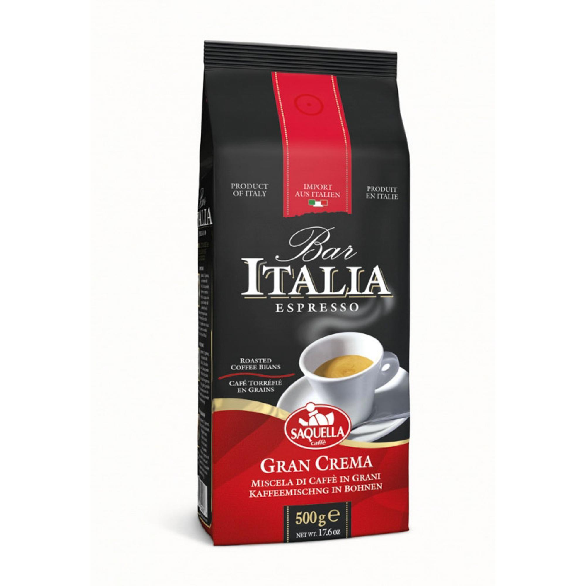 Кофе в зернах Saquella Bar Italia Gran Crema 500 г