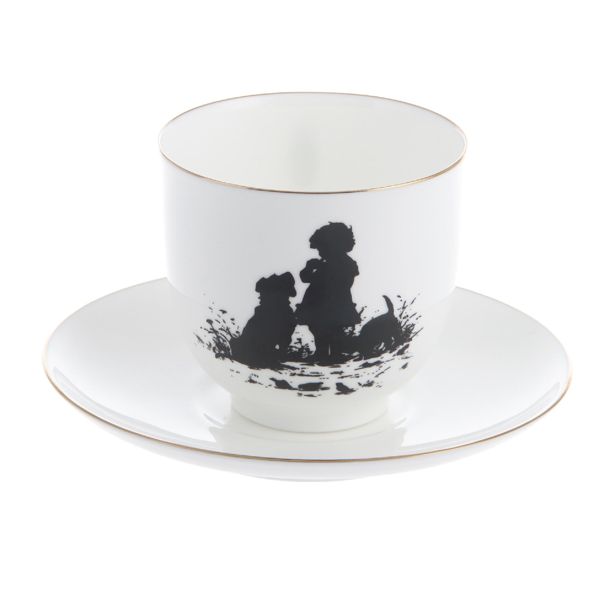 Чашка с блюдцем кофейная ИФЗ форма Ландыш Друзья 180 мл