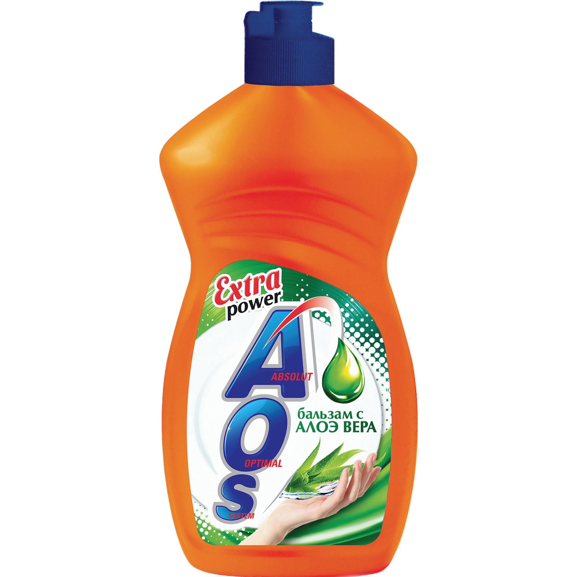 Средство для мытья посуды AOS 2в1 Бальзам Алоэ Вера 450 мл средство для мытья посуды миф бальзам алоэ вера 500 мл