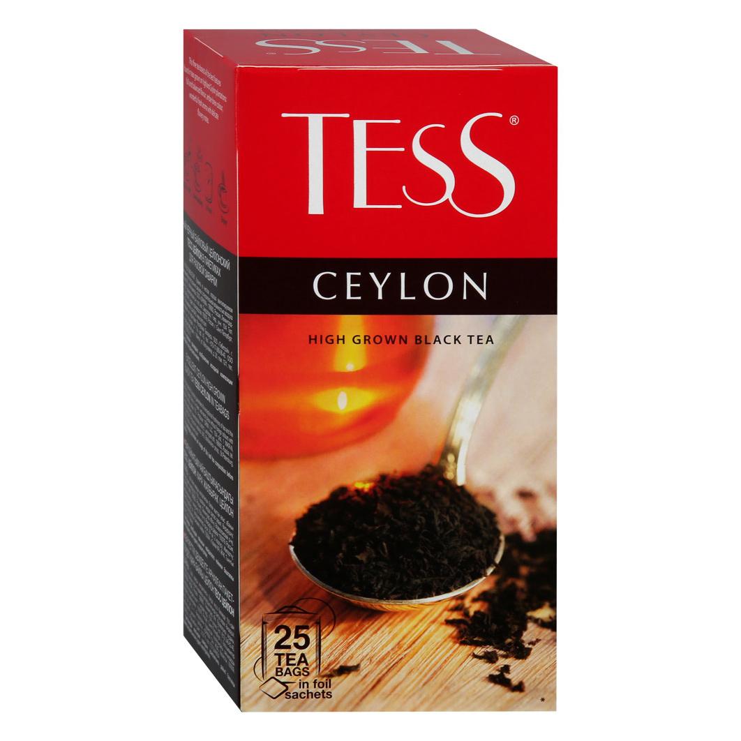 Чай черный Tess Ceylon 25 пакетиков чай черный tess grapefruit