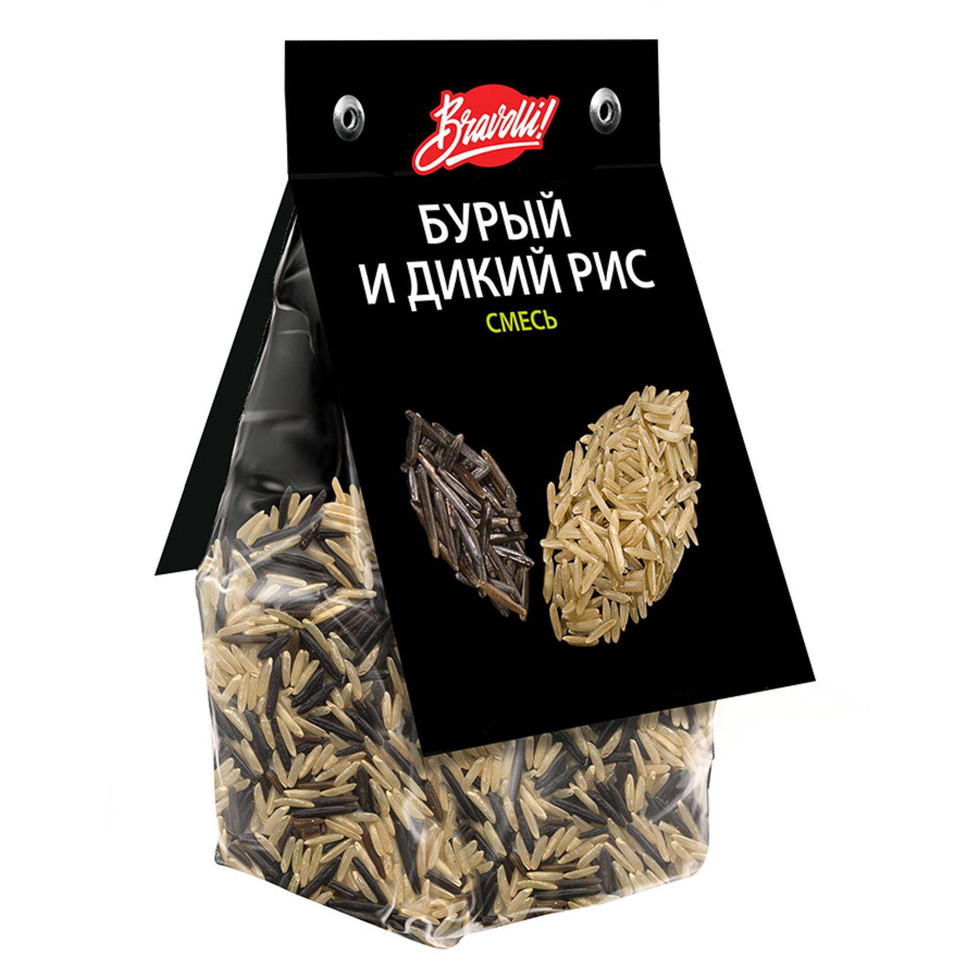 Рис Bravolli смесь бурый и дикий 350 г недорого