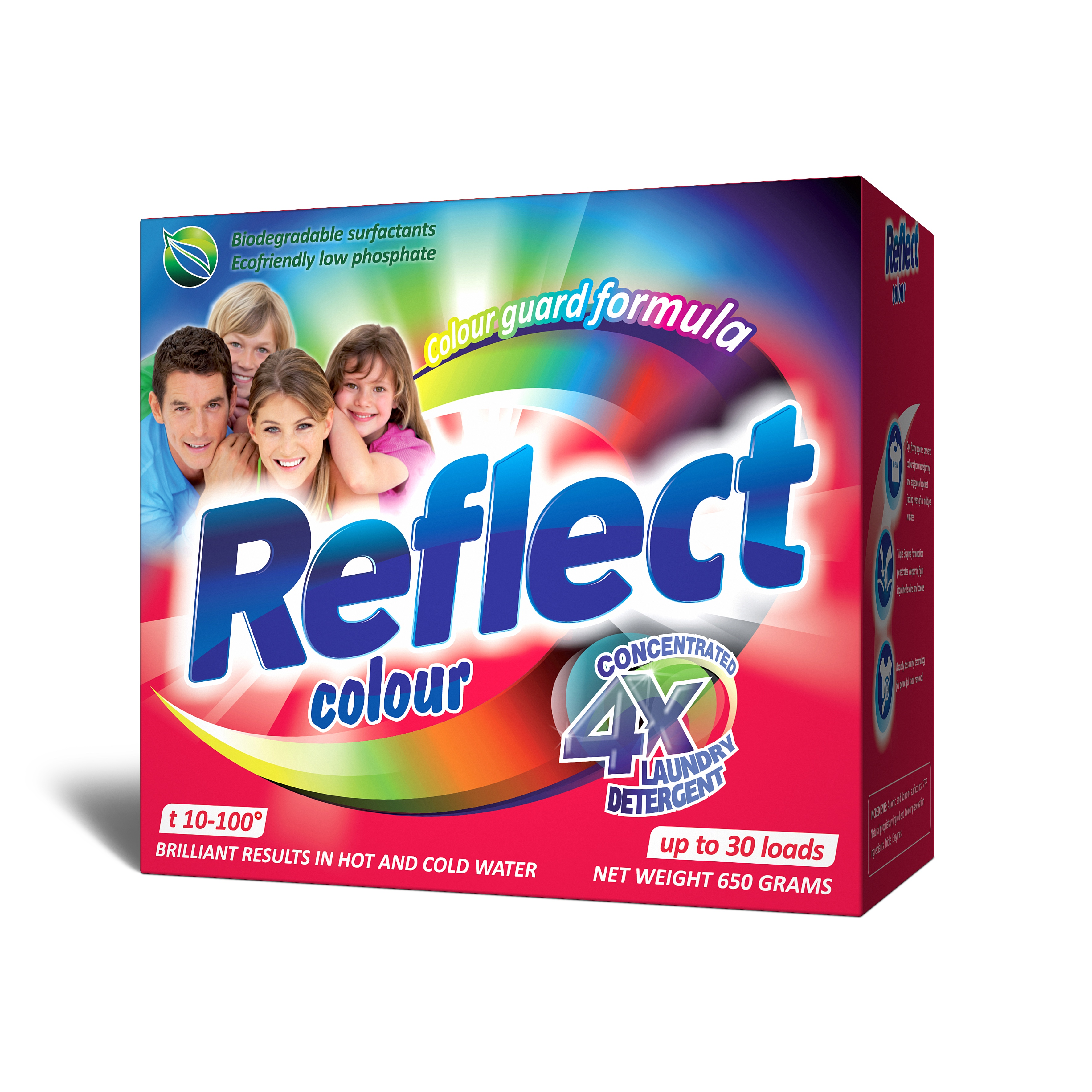 Концентрированный стиральный порошок Reflect Colour 650 г