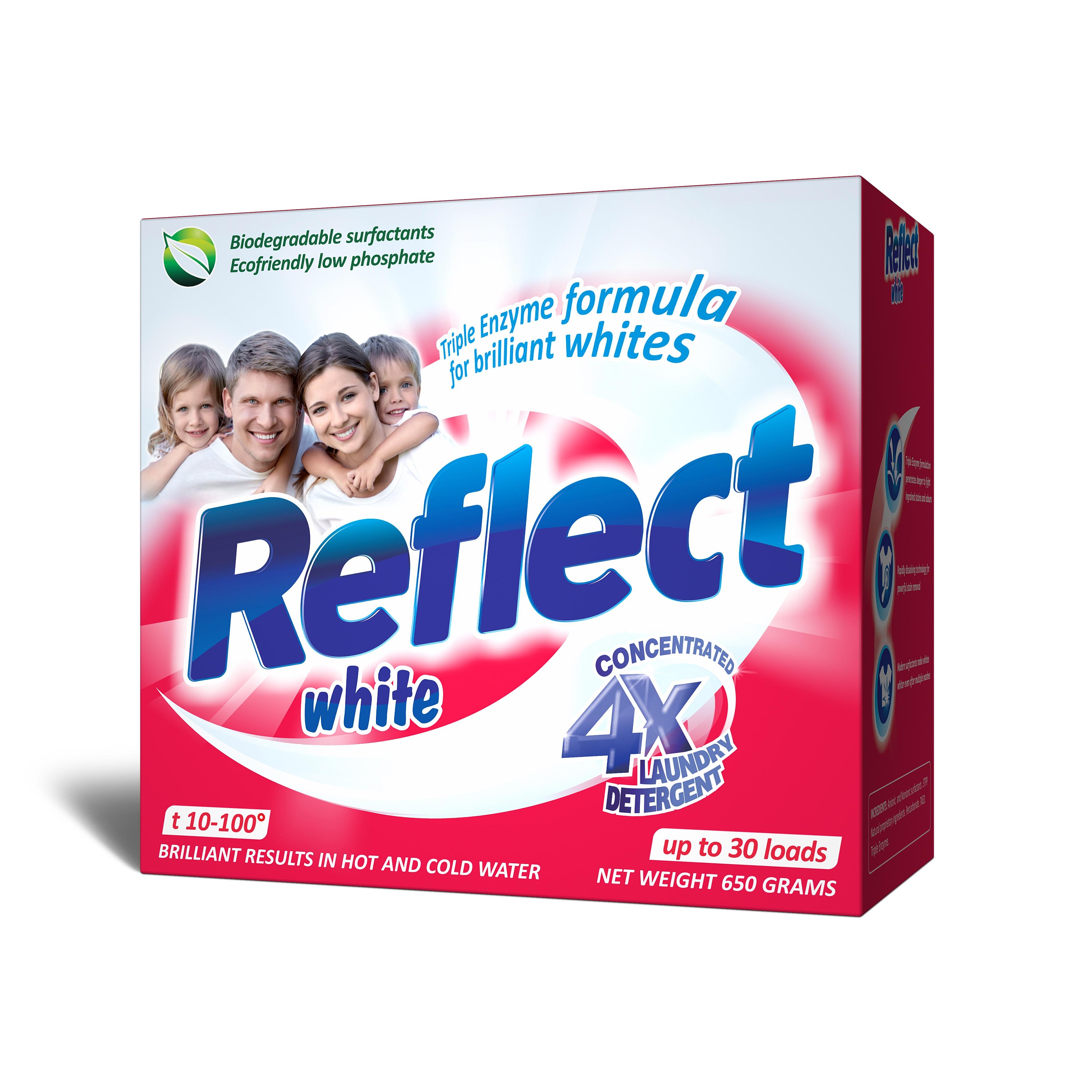 Концентрированный стиральный порошок Reflect White 650 г