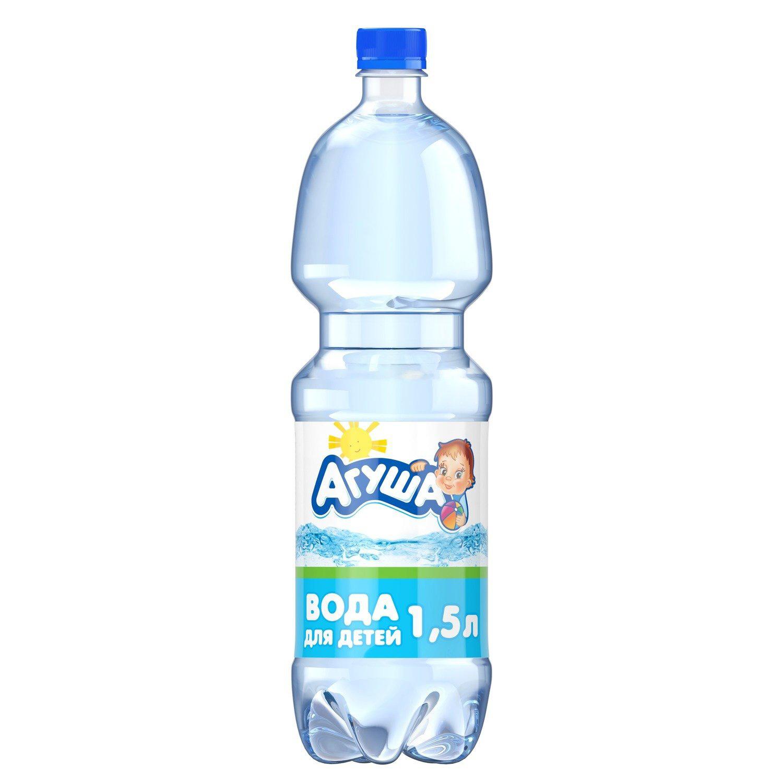 Вода Агуша детская с 0 месяцев 1,5 л