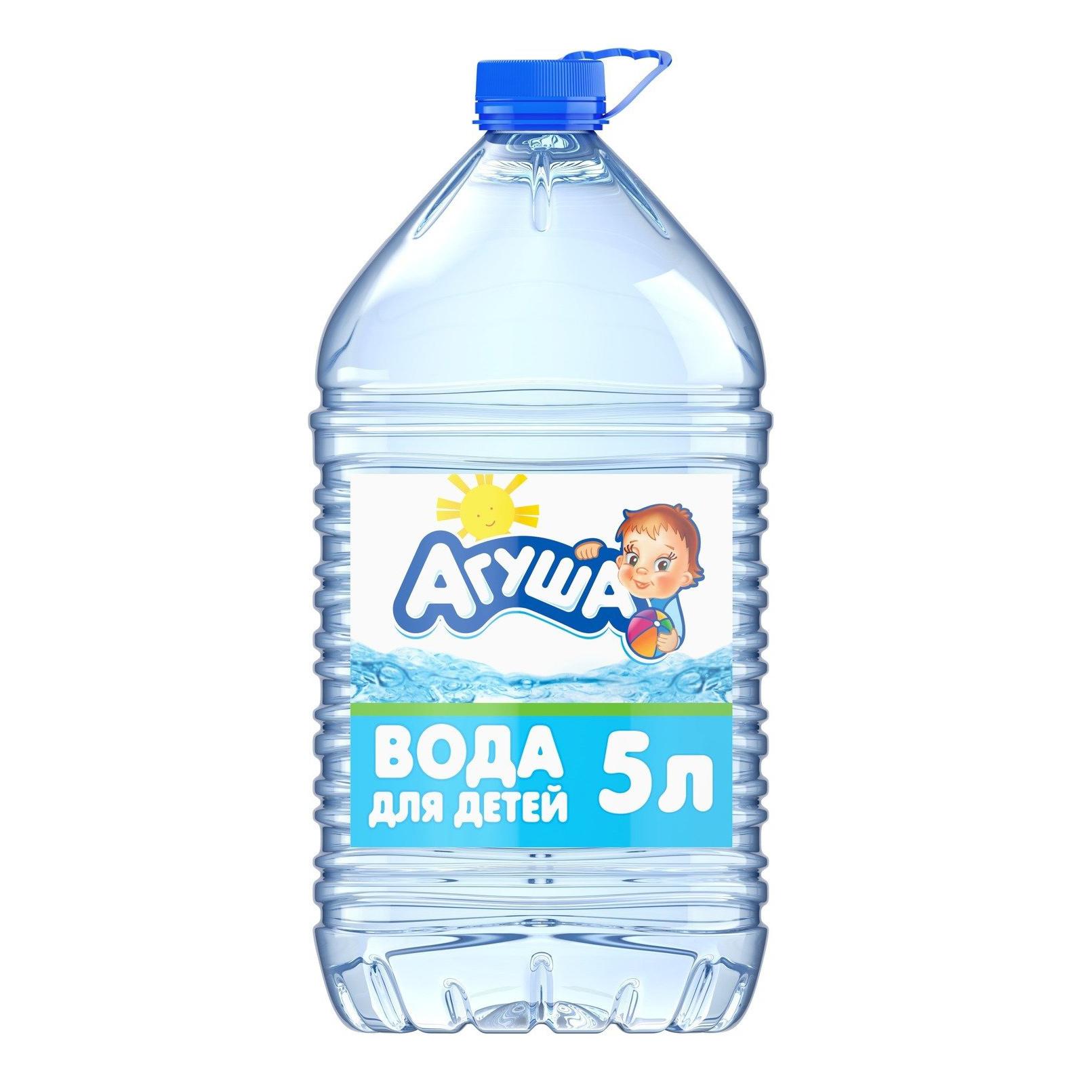 Вода Агуша детская с 0 месяцев 5 л