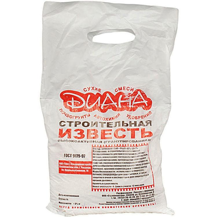 Купить Известь Диана Гранулированная 2 кг, побелка, белый