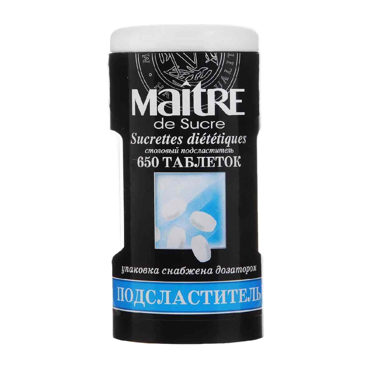 Подсластитель Maitre de Sucre 650 шт huxol подсластитель таблетки 650 шт