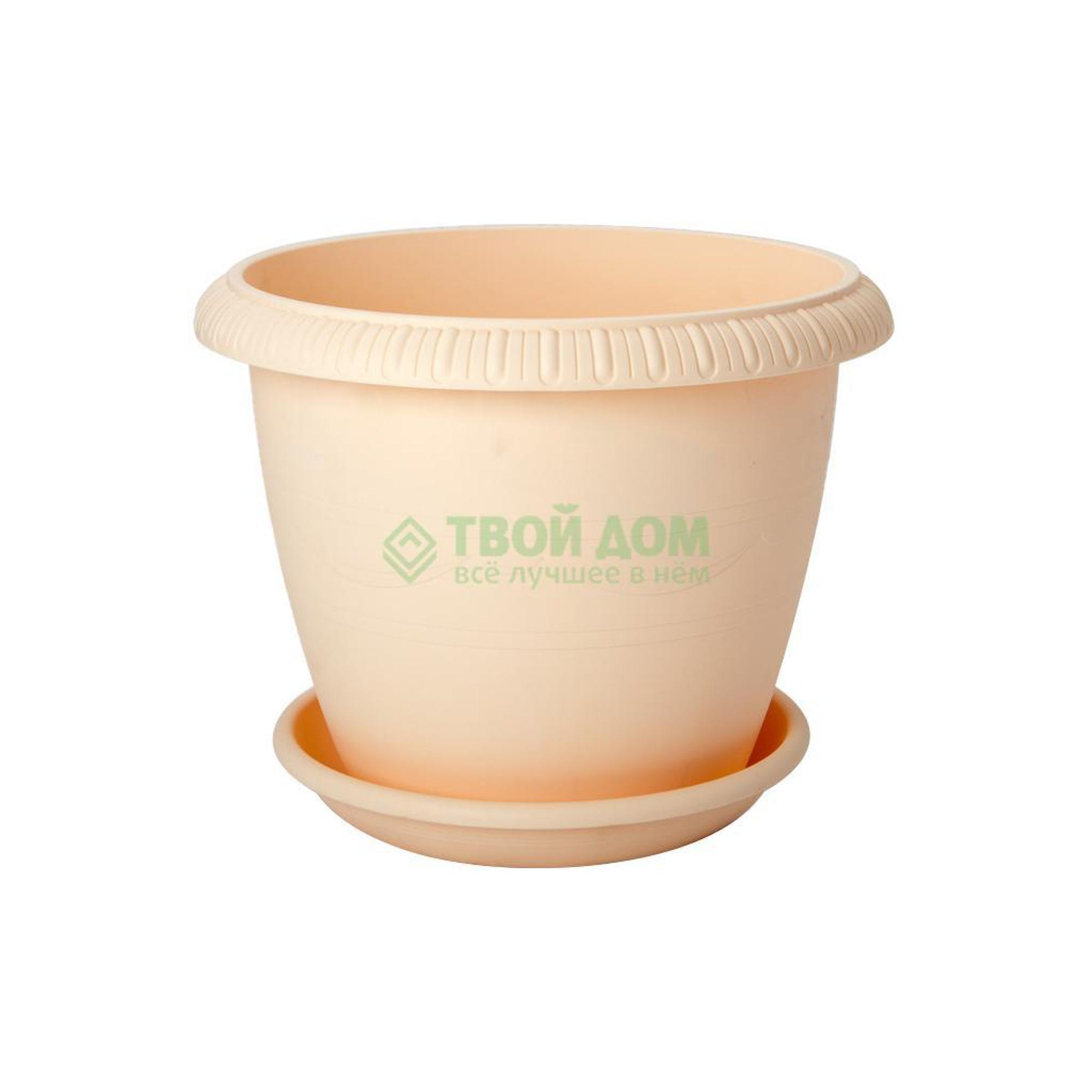 Купить Горшок Tek.a.tek для цветов 104-2, горшок, Россия, светло-коричневый, полипропилен