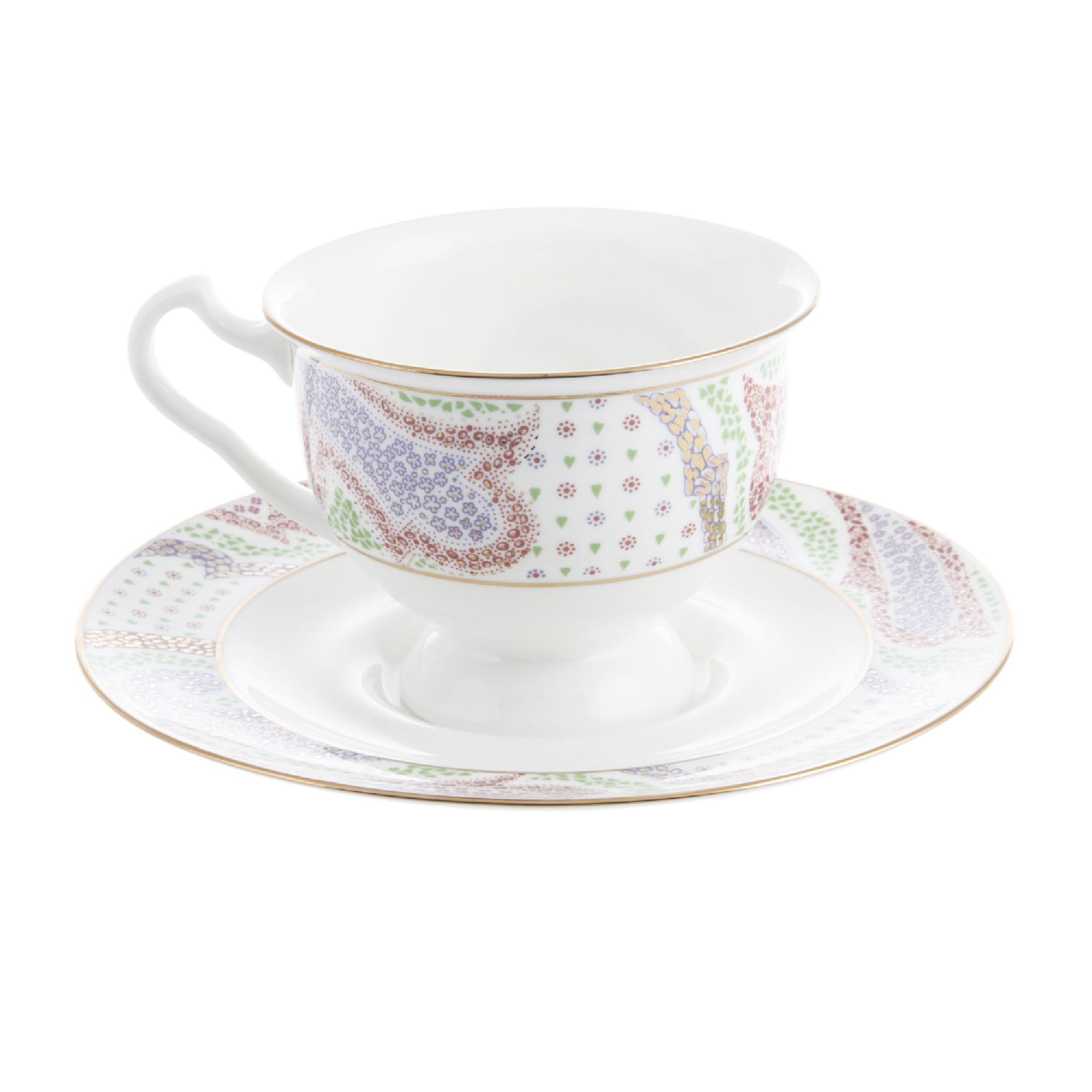 Чашка с блюдцем чайная айседора мариент фиол кн1 Ифз