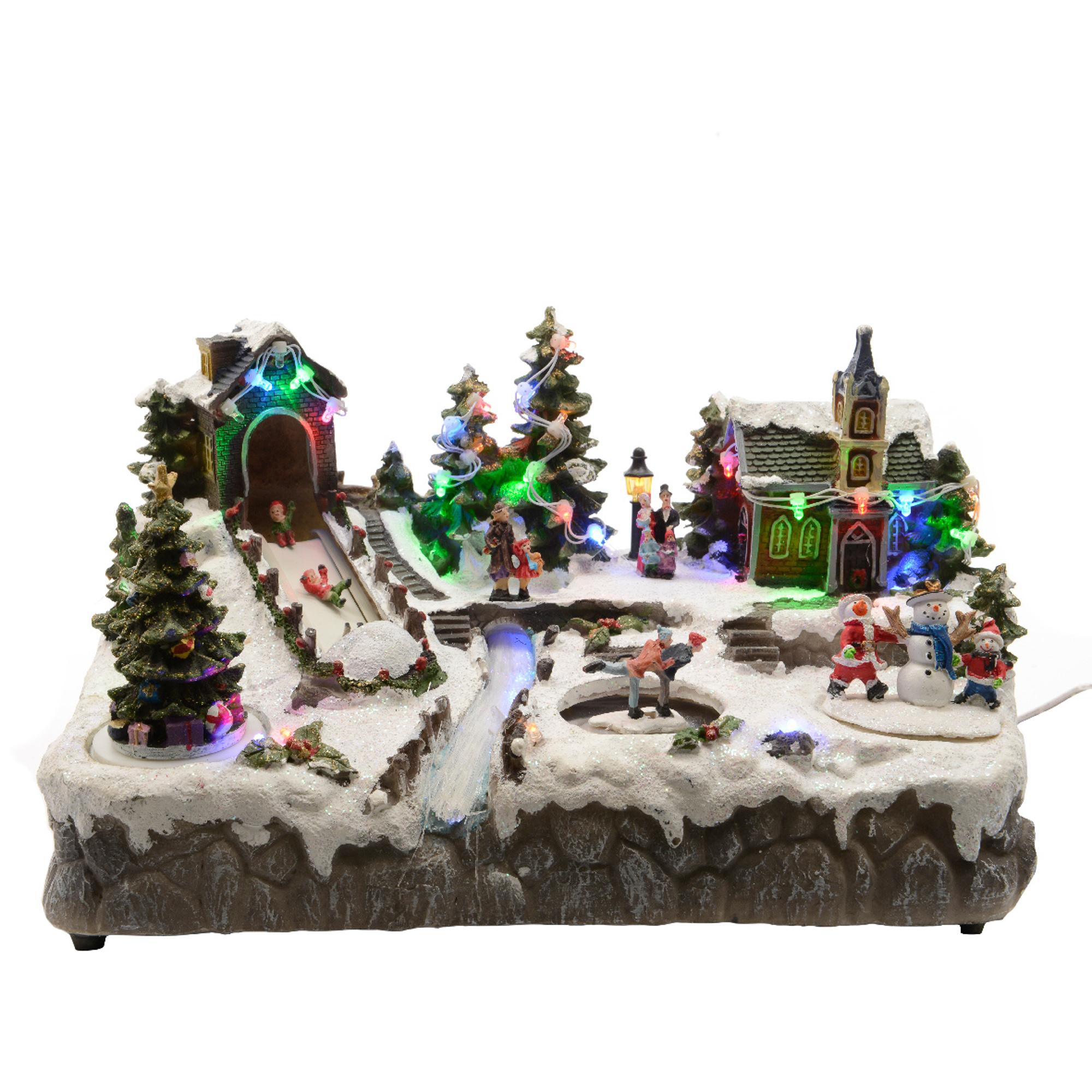 Деревня рождественская светящаяся Kaeming 481262