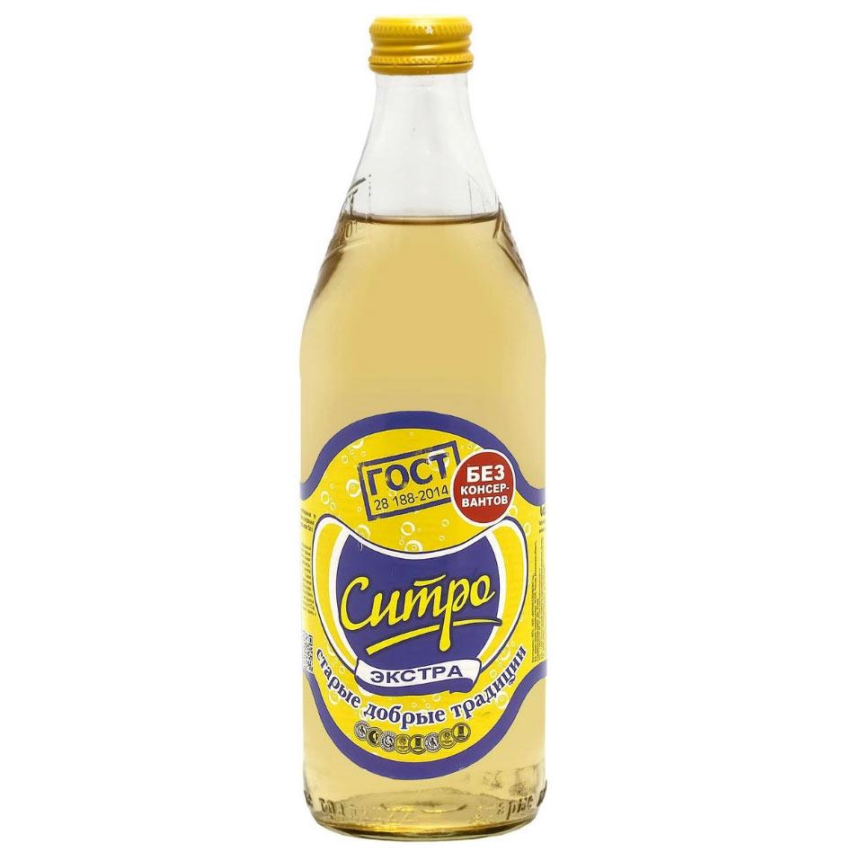 Напиток газированный Старые добрые традиции экстра-ситро, 0,5 л напиток газированный сладкий leo экстра ситро 500 мл