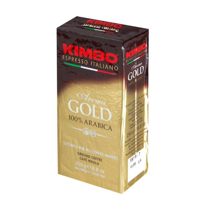 Кофе молотый Kimbo Aroma Gold 100% Arabica 250 г кофе в зернах kimbo aroma gold 100% arabica 250 г