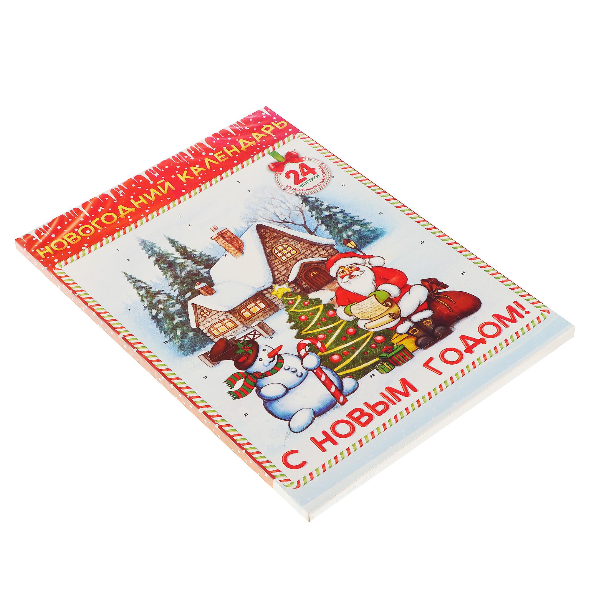 """Шоколад молочный Baron """"Новогодний календарь"""" 75 г"""