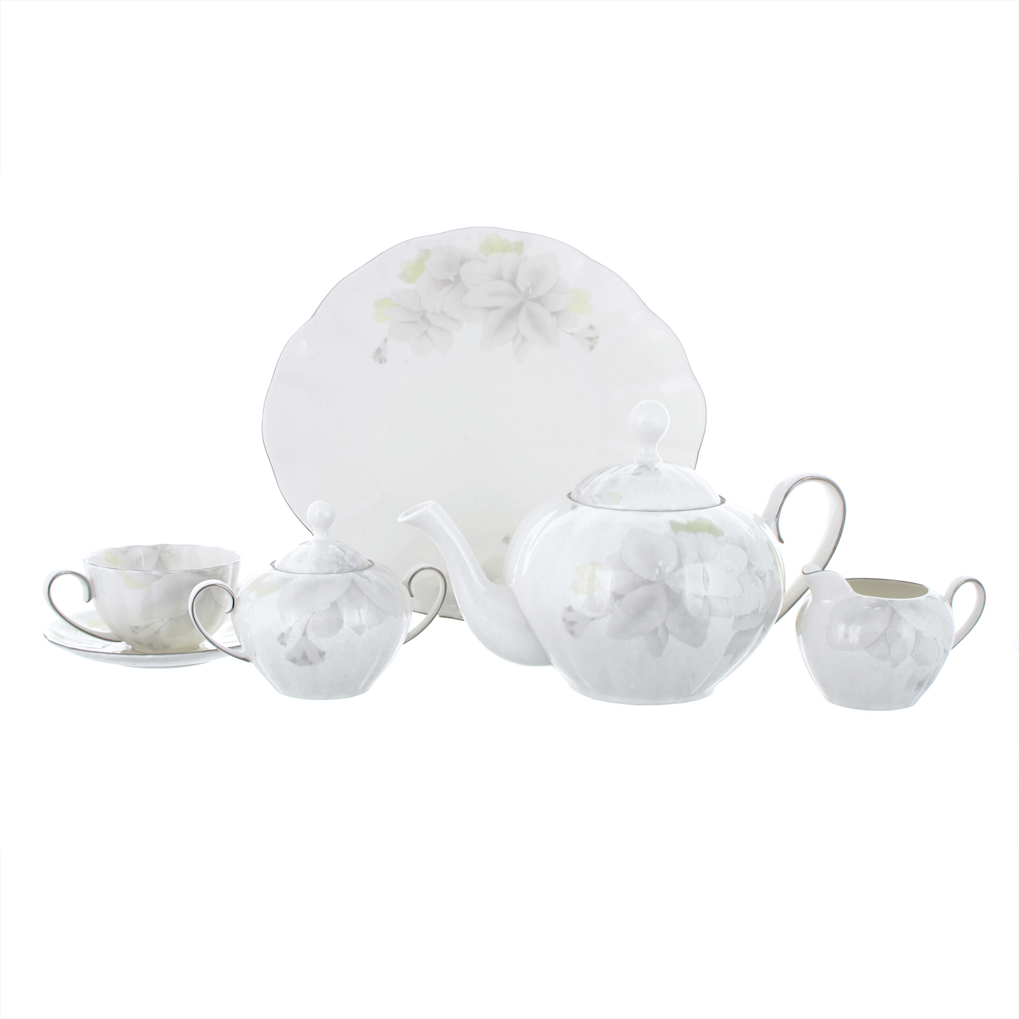Сервиз чайный Магнолия Грэй Hatori 18 предметов