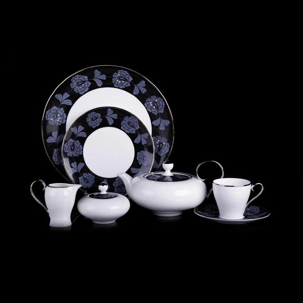 Фото - Чайный сервиз Hankook/Prouna Блэк Палас с кристаллами Swarovski 22 предмета чайный сервиз hankook prouna блэк палас с кристаллами swarovski 22 предмета
