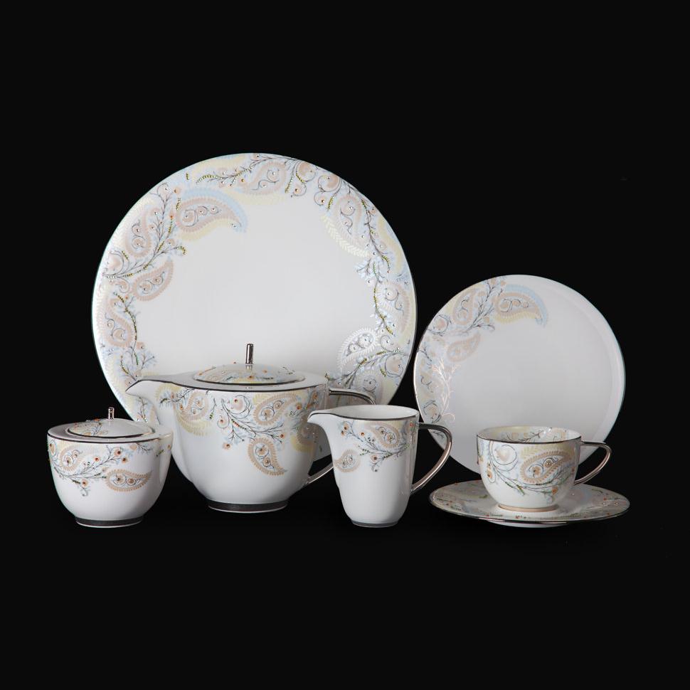 Фото - Чайный сервиз Hankook/Prouna Перидот с кристаллами Swarovski 22 предмета чайный сервиз hankook prouna блэк палас с кристаллами swarovski 22 предмета