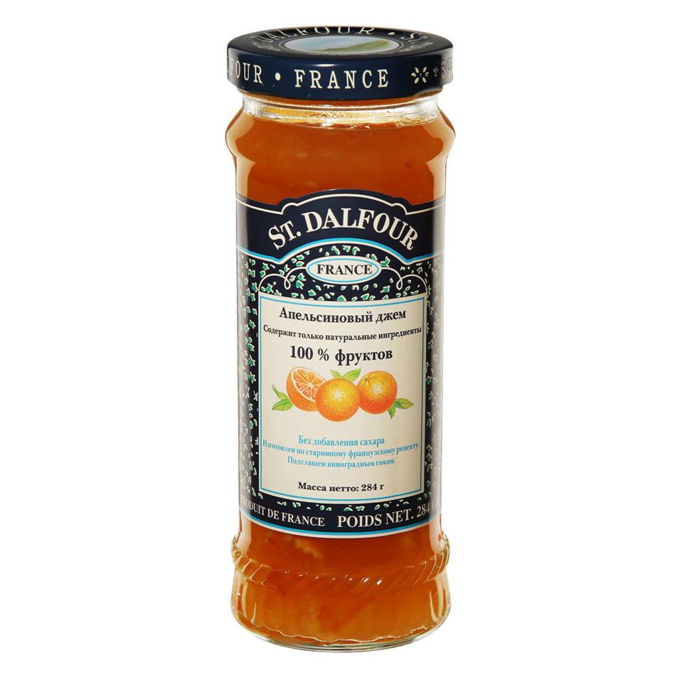 Джем St.Dalfour Апельсиновый 284 г апельсиновый мармелад шикарный апельсиновый мармеладный джем 10 унций 284 г