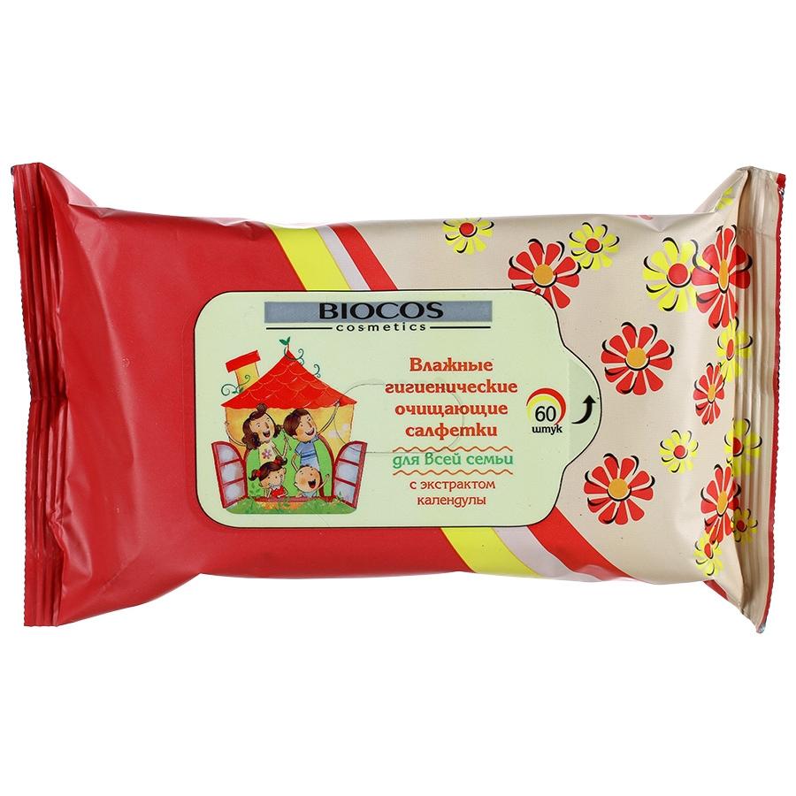 Фото - Влажные салфетки Biocos Для всей семьи 60 шт влажные салфетки vestar для всей семьи с антибактериальным эффектом 70 шт