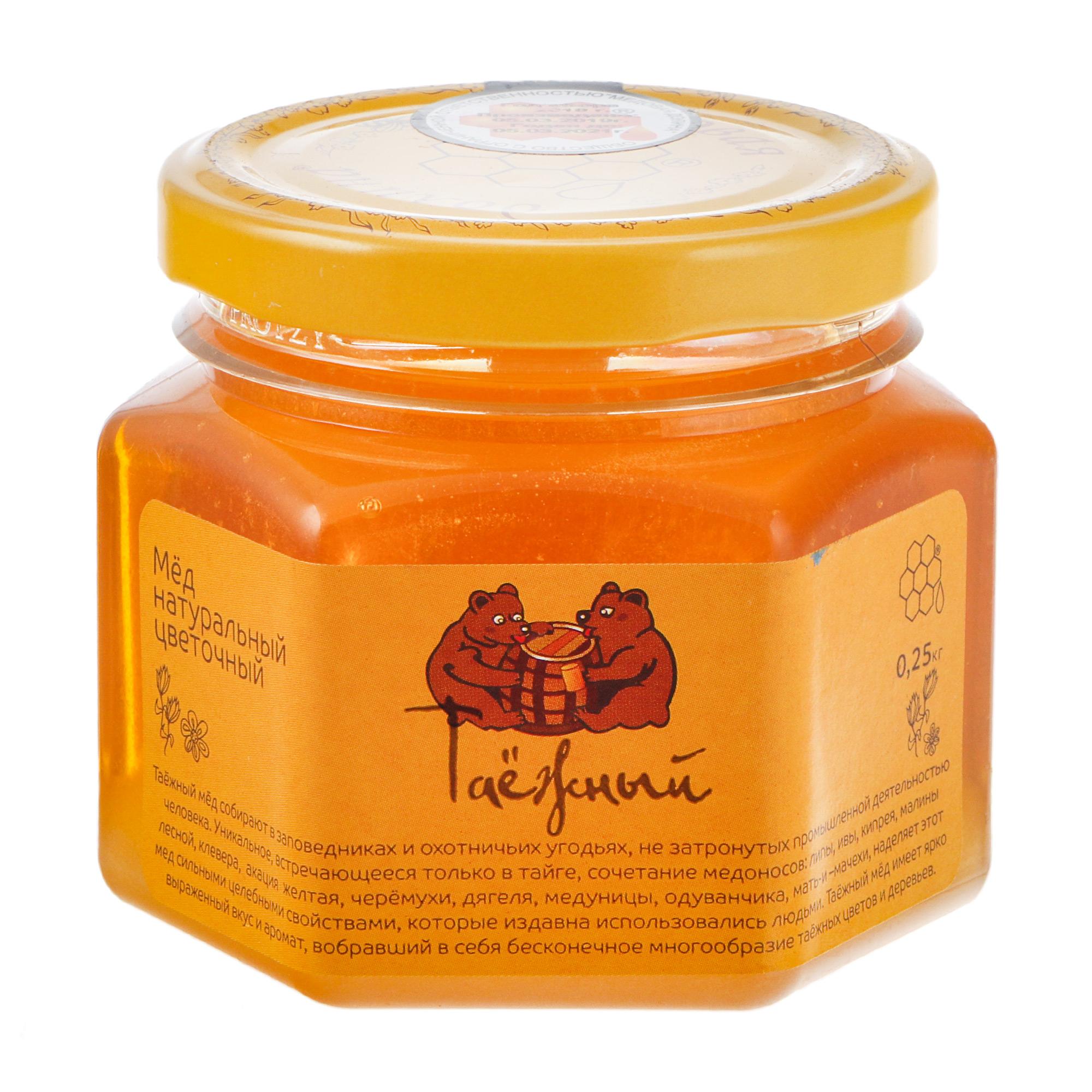 Мед Пчелиная аптека Таежный натуральный 250 г