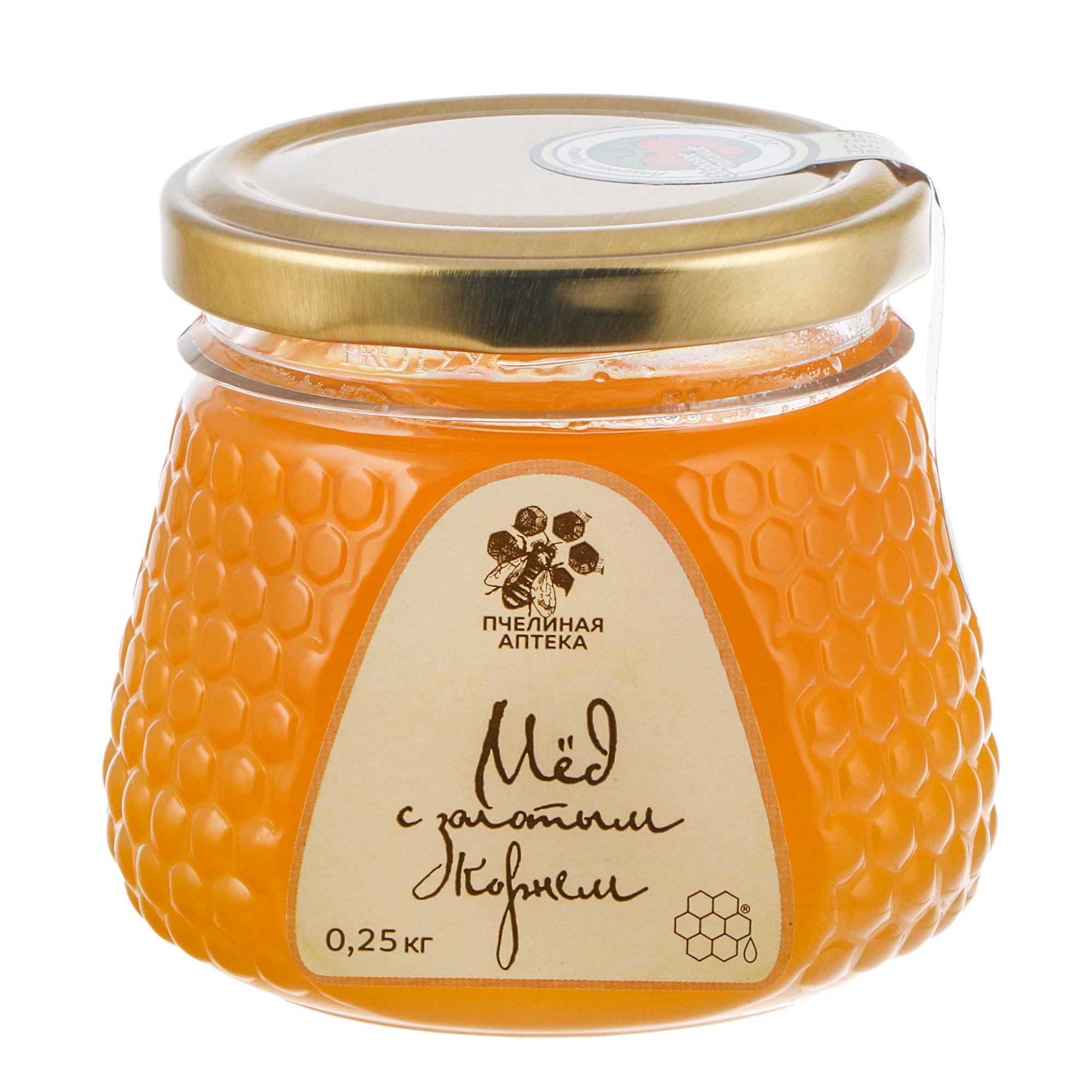 Мед Пчелиная аптека с золотым корнем 250 г
